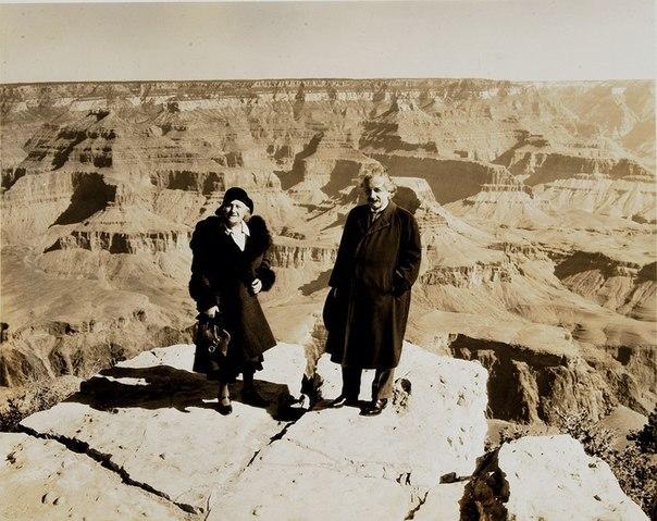 Фото Альберта Эйнштейна в Большом каньоне